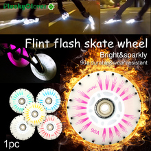 Skate-Wheel Flash-Roller Led-Light Slalom 80mm Spark 1pc 72mm-76mm Flint Fire-Stone