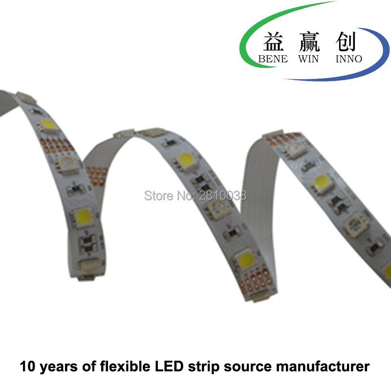100M/Lot DC12/24V 72leds/M 5050rgbw led strip light cri 90+ led light strip 12mm wide 5050 flexible led strip 17.2W/M led ribbon