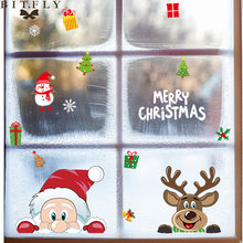 Рождественский подарок снеговик Электростатическая наклейка