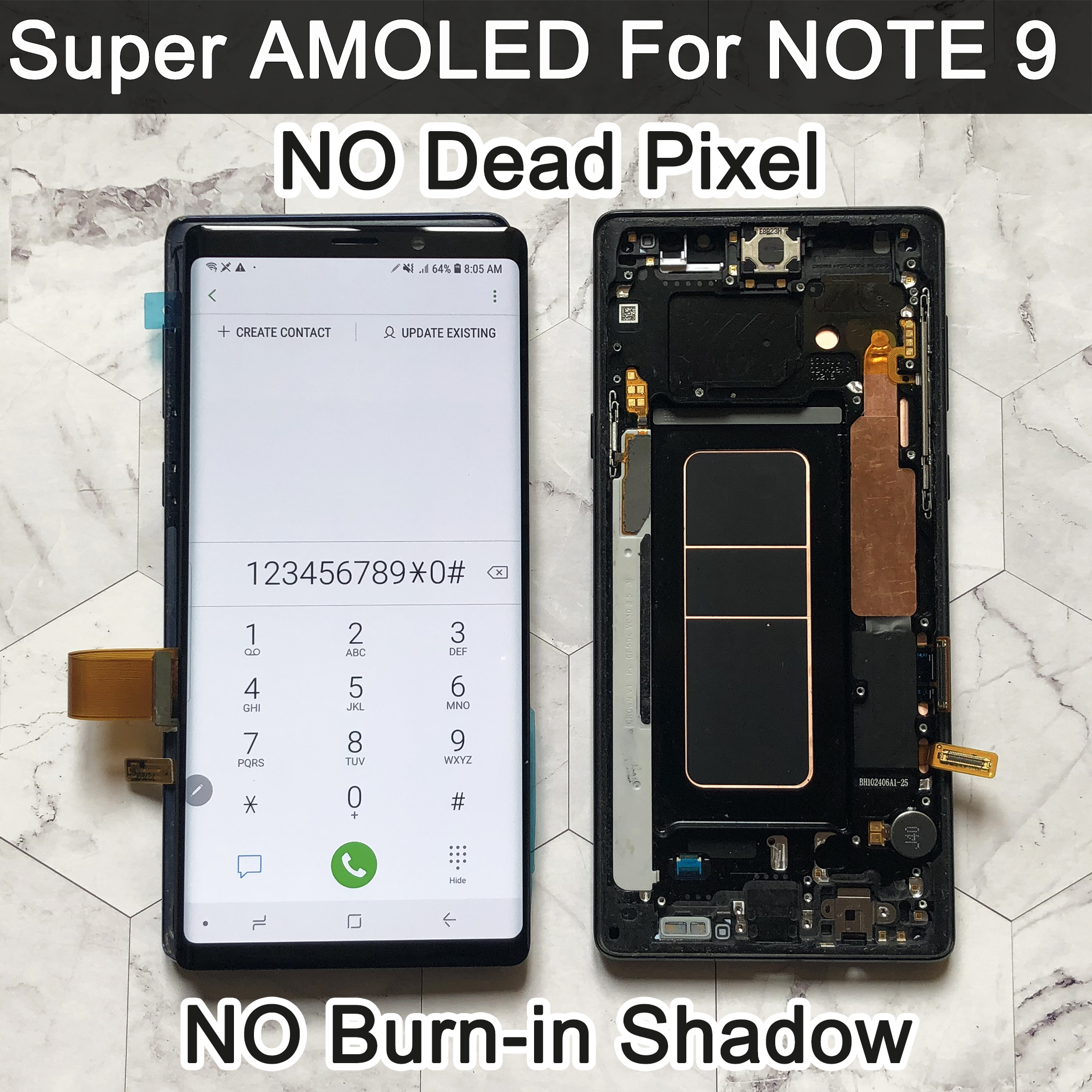 ORIGINAL SUPER AMOLED 6.4'' LCD for SAMSUNG GALAXY Note 9 lcd For Note9 N960F Display Touch Screen Digitizer Assembly lcd