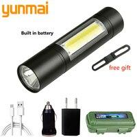 Lámpara de antorcha ajustable impermeable para bicicleta, XP-G Q5 con batería integrada de Camping, enfoque con Zoom de 2000 lúmenes, Mini linterna led