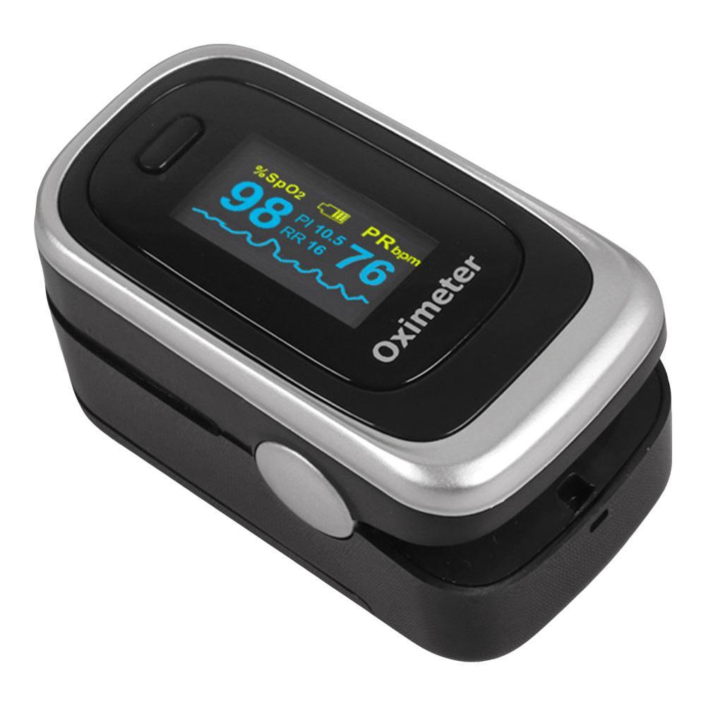 Digital Sphygmomanometer Oximeter Finger Clip Detecting Pulse Heart Rate Blood Oxygen Respiration Rate Domestic Equipment