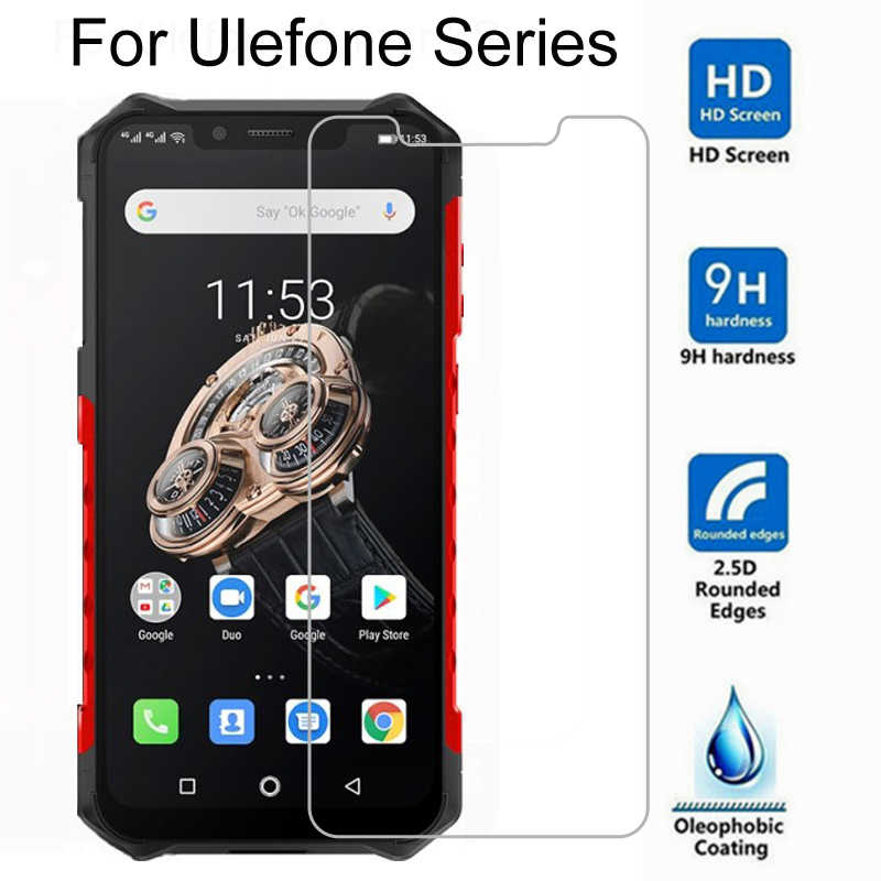 Tempered Glass For Ulefone Armor 5 6 6S Screen Protector 9H Protective Film On Ulefone Power 5 5S Note 7 Screen Film