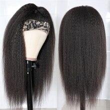 Dlme странный прямой парик с головной повязкой натуральные волосы