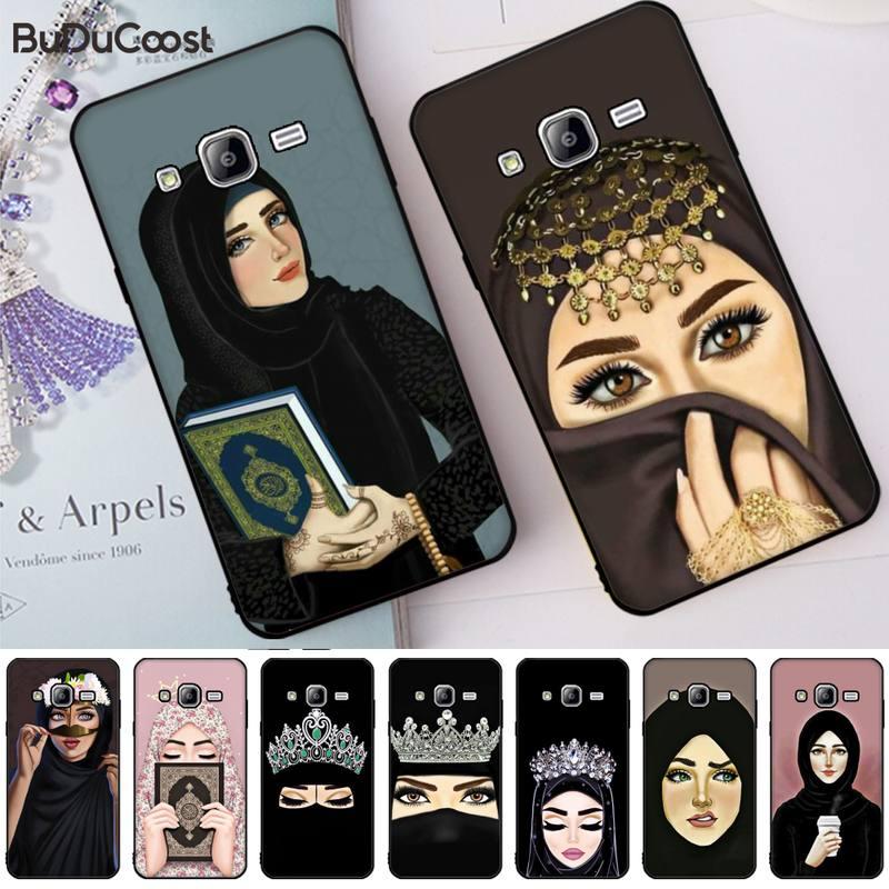 Luxury Woman In Hijab Face Muslim Islamic Gril Eyes Phone Case For Samsung Galaxy J7 J6 J8 J4 J4Plus J7 DUO J7NEO J2 J7 Prime