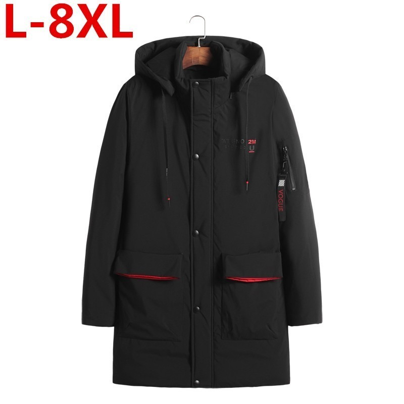 Winter Plus Size 8XL 7XL 6XL New Men's Jacket Casual Coat Overcoat Man Jackets High Quality Fabric Men's Cotton-padded Clothes