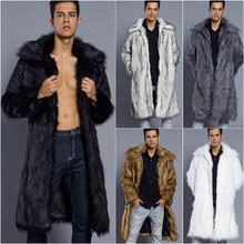 Lanshifei 2019 Newest Fashion Faux Fur Jacket Men Winter Thicken Fur Ja