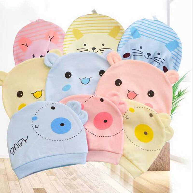 ทารกแรกเกิดน่ารักการ์ตูนกระต่ายแมว Piggy ยิ้มรูปแบบหมวกเด็กฝ้ายเด็กทารกอุปกรณ์ Multicolor ตัวเลือก