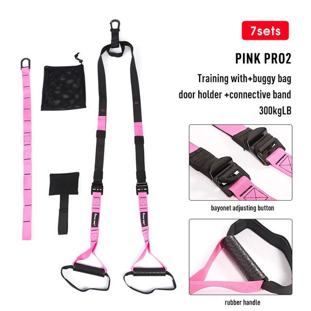 悬挂训练带pro2粉色(承重300kg)