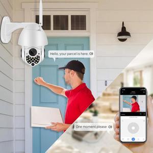 Image 2 - Caméra extérieure de Wifi PTZ de 1080P avec la sirène automatique dépistant la caméra dip de sécurité à la maison de nuage 2MP 4X caméra numérique de dôme de vitesse de Zoom