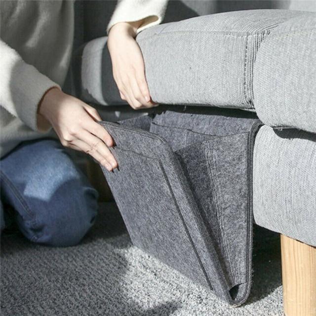 Bedside Storage Organizer Hanging Caddy Bed Holder Pockets Bed Pocket Sofa Organizer Pockets Book Felt Bed Holder Pockets