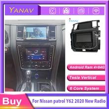 Автомагнитола 2 din приемник для Android для Nissan патруль Y62 2012-2019 Автомобильный мультимедийный плеер GPS navi модифицированный до 2020 нового видео