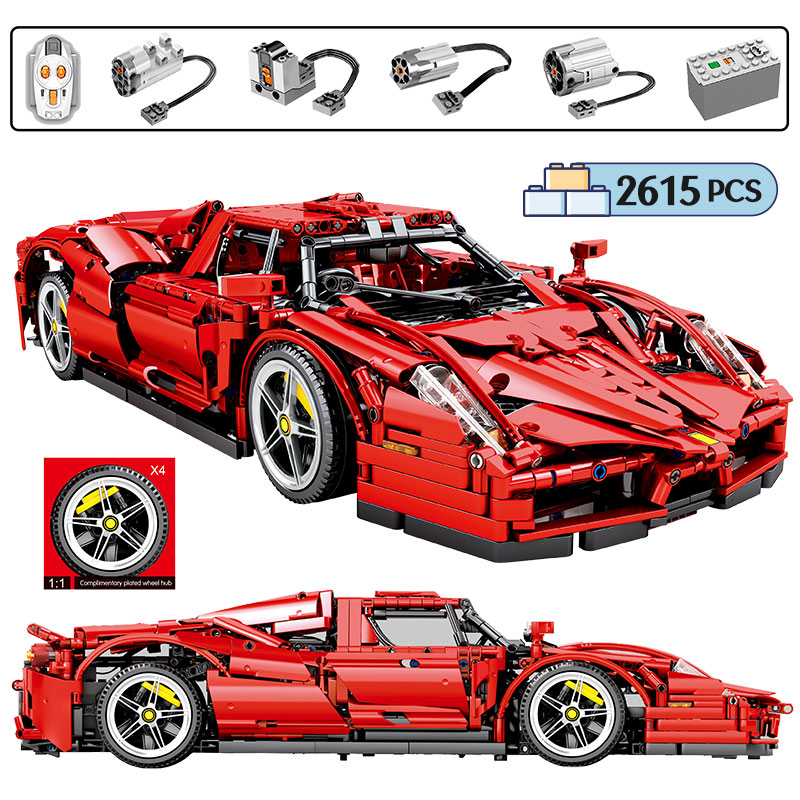 2615pcs City Remote Control Racing Car MOC Model Building Blocks for Technic RC Sports Car Creator Bricks Toys for Children Gift