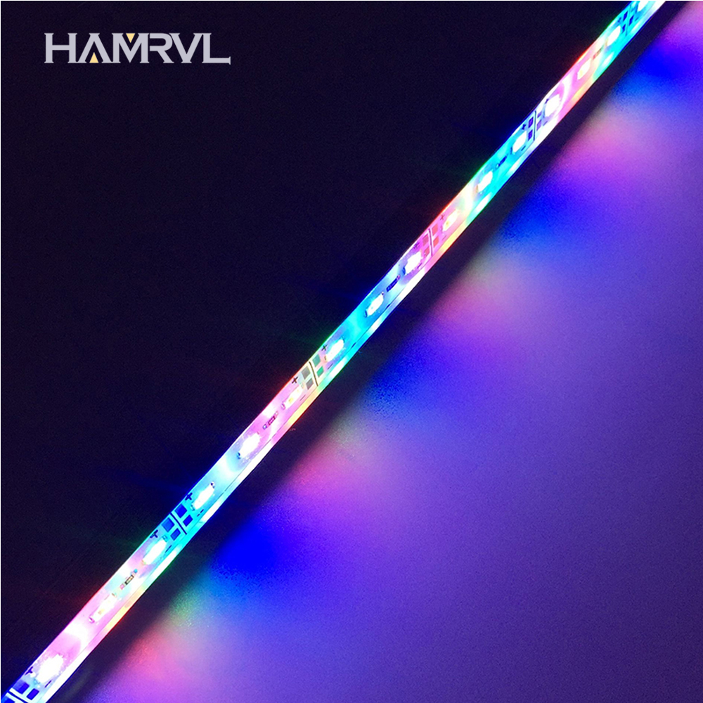 2pcs 0.5m  DC12V IP68 Waterproof 5730 Grow Lights  Led Rigid Strip 3 Red 1 Blue For Aquarium Green House Hydroponic Plant White