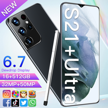 2021 Global Version S21+ Ultra 6.7inch Smartphone 6800mAh 10 Core 16+512GB 32+50MP Face ID With E-pen 4G 5G Android Mobilephone