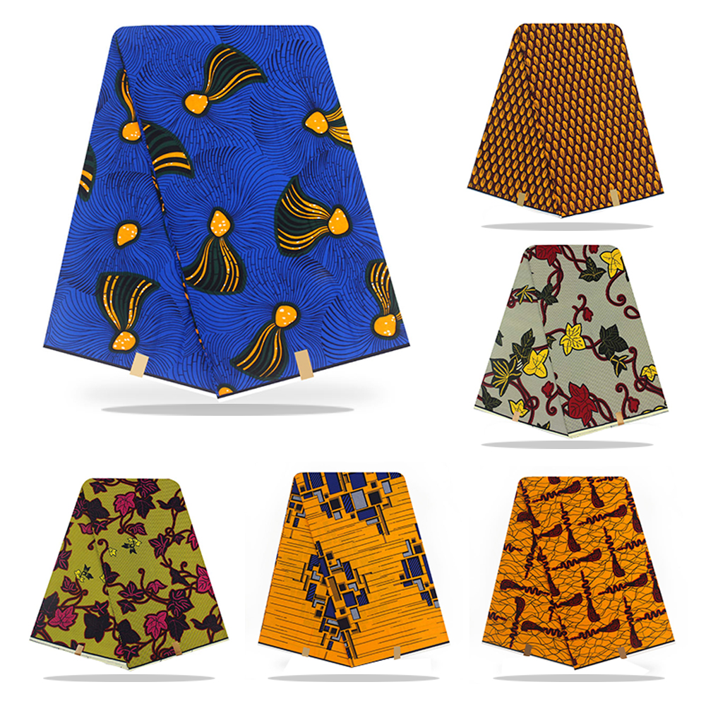 1Yard Ankara African Cotton Wax Prints Fabric For Women Party Dress Garments Craft Making Accessories