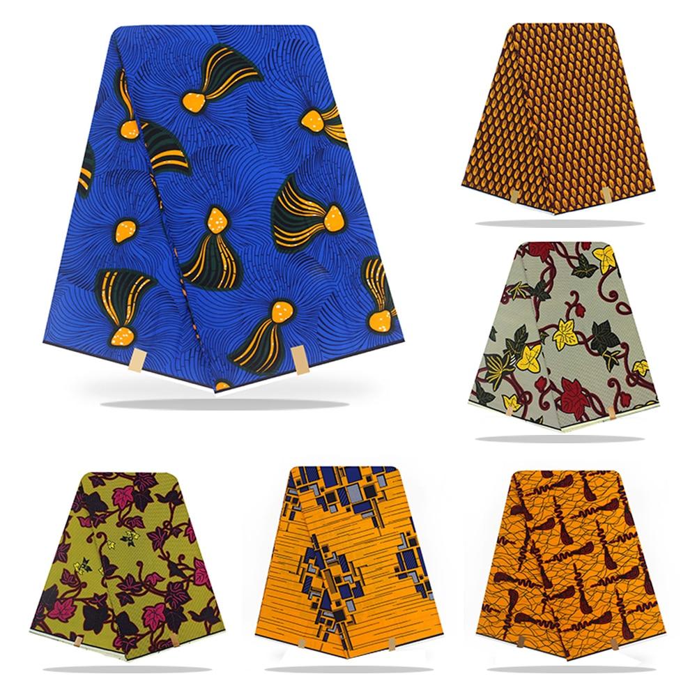 1Yard Ankara African Cotton Wax Prints Fabric For Women Party Dress Garments Craft Making Accessories