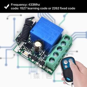 Image 3 - 433 MHz rf Remote Control DC 12V 24V 10A 1CH Relay Receiver for universal garage/door/Light/LED/Fanner/motor/Signal transmission