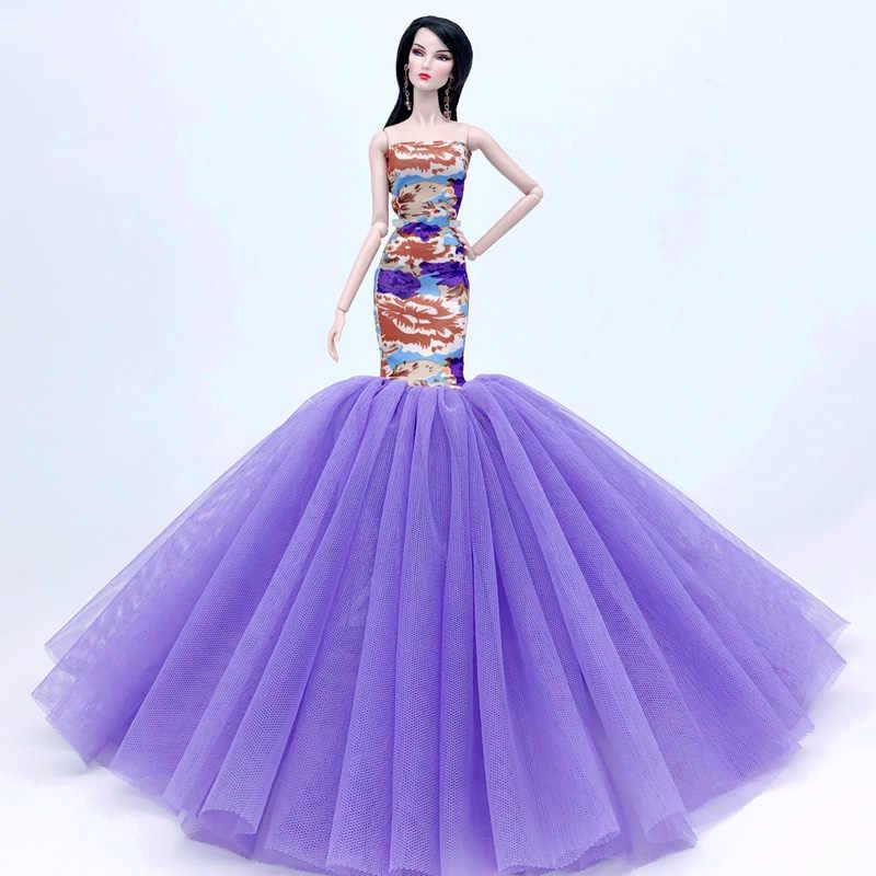 Ropa de sirena colorida de alta calidad para sujetador de muñeca Barbie y falda de cola de pez vestido para 1/6 BJD muñeca Cosplay accesorio de disfraz de muñeca