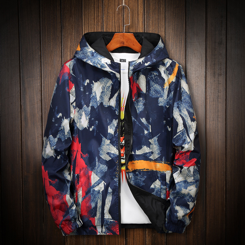 2020 Camouflage Reversible Jacket Men Plus Size 8XL Camo Hooded Windbreaker Jackets Coat Military Jacket Parka Streetwear