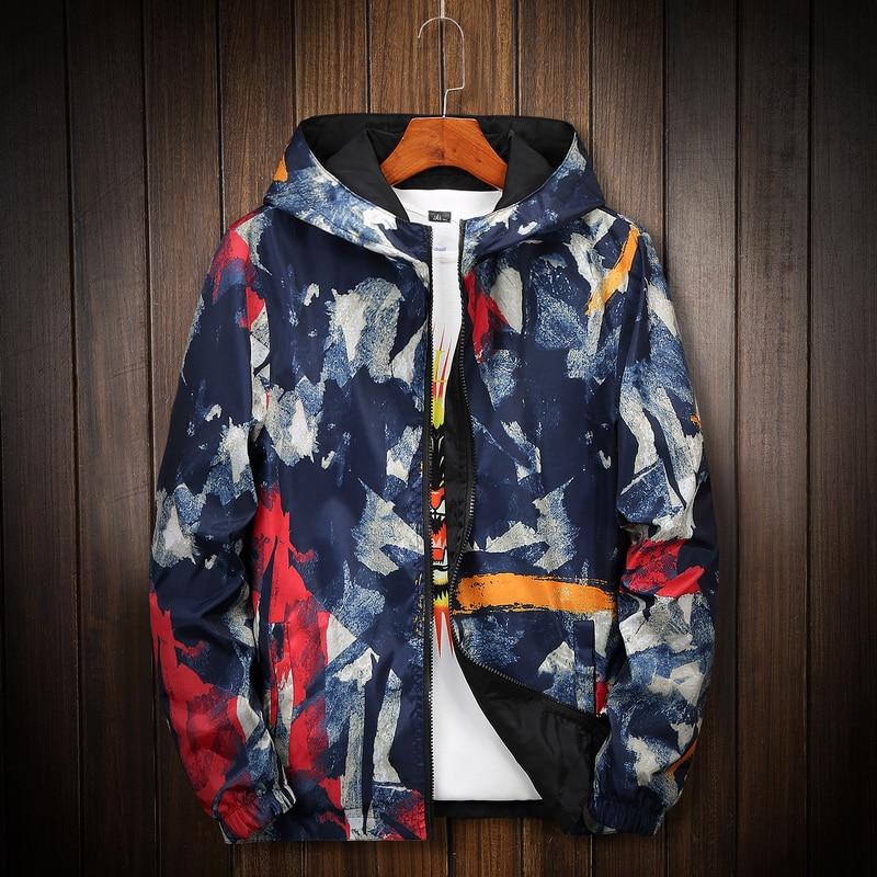 2020 Camouflage Reversible Jacket Men Plus Size 8XL Camo Hooded Windbreaker Jackets Coat Military Jacket Parka Streetwear