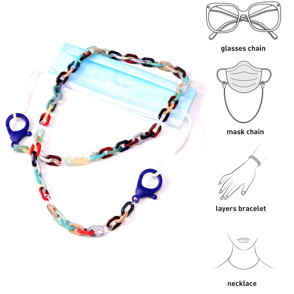 Fashion Dangles Masks Neck Chain for Women Cuelga Mascarillas Glasses Lanyard Men's Child Acrylic Strap for Sunglasses