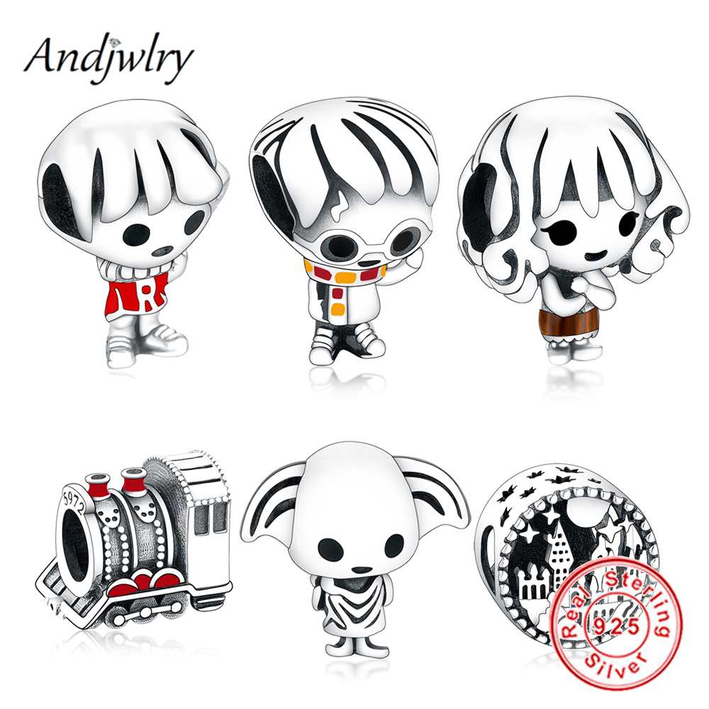 Fit Original Pandora Charms Bracelet & Necklace 925 Sterling Silver Harry Charms Beads Pendant Dangle Berloque(China)