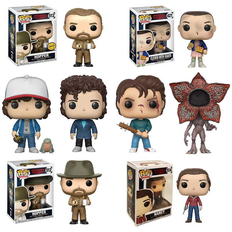 Funko POP  2019 Hopper POP Stranger Things DEMOGORGON PVC Action  Figure Dolls Toys For Birthday Gifts