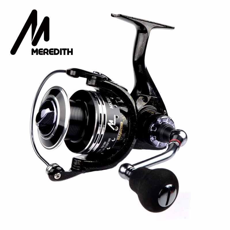Meredith 6BB+1RB Drag Spinning Reel with Larger Spool 8-12KG Max Drag Sea Boat Spinning Fishing Reel
