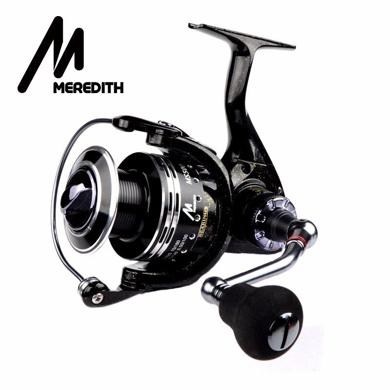 Meredith 6BB + 1RB glisser moulinet avec une plus grande bobine 8-12KG Max glisser bateau de mer filature moulinet de pêche