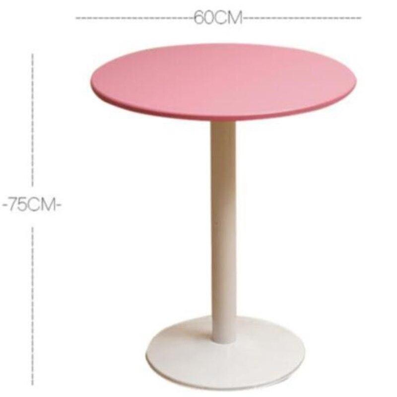 Φ60*75CM Leisure Garden Table Round Negotiating Table Modern Dining Table Coffee Bar Table