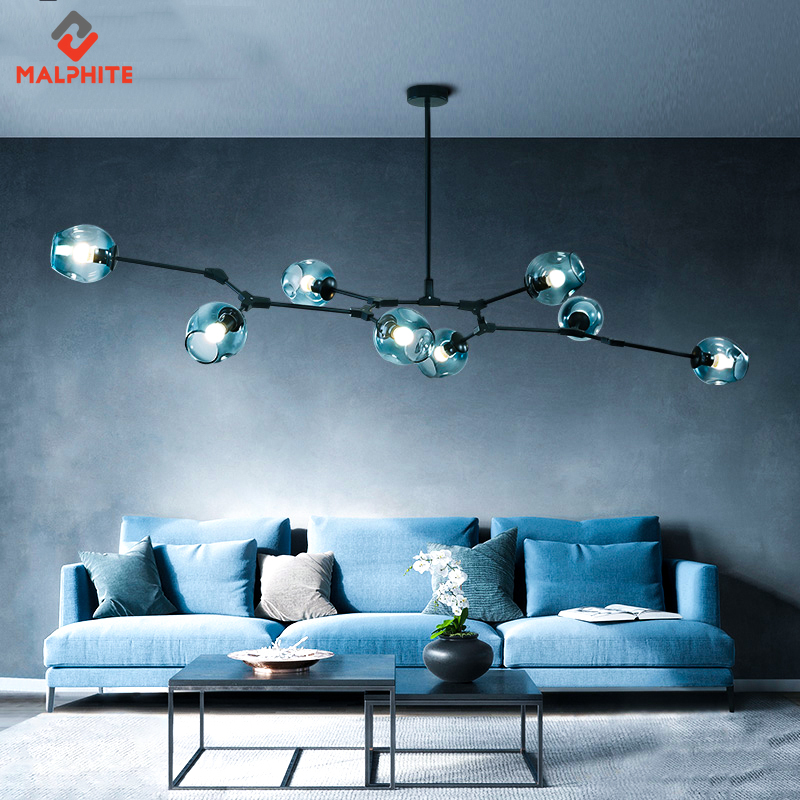 Chandelier Modern Lighting Glass Children Chandelier For Living Room Bedroom Hanging Lamp Ball Light Fixture Chandeliers Kitchen