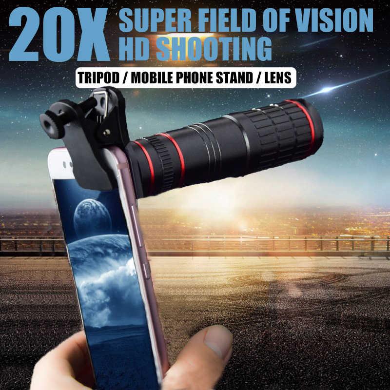 Objectif de téléphone portable 20x à longue mise au point objectif de Zoom de téléphone portable à usage général objectif de caméra externe à effet de mise au point HD