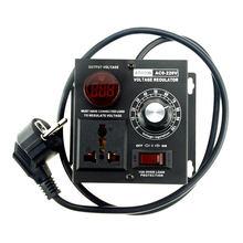 1 sztuk ue wtyczka AC 220V 4000W SCR elektroniczny Regulator napięcia Regulator prędkości silnika ściemniacz elektronarzędzie regulowany