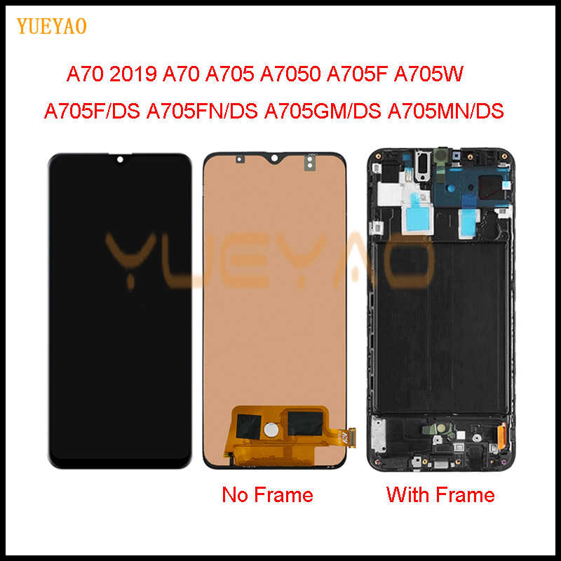 6.7 ''Lcd Display Voor Samsung Galaxy A70 Lcd A705 A705F SM-A705MN Display Touch Screen Digitizer Vergadering