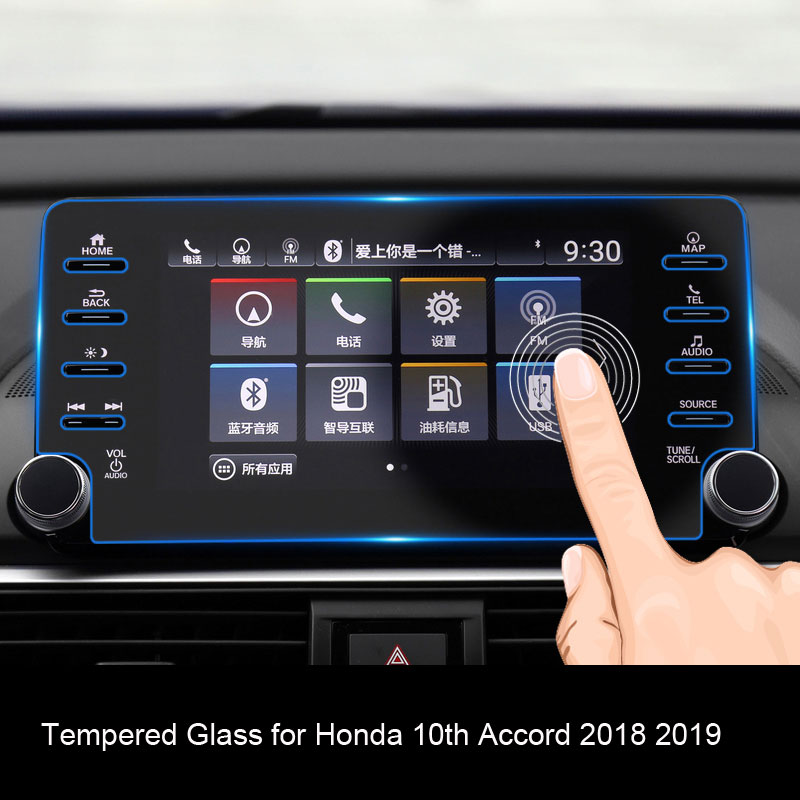 Car Navigation Tempered Glass For <font><b>Honda</b></font> <font><b>Accord</b></font> 2018 <font><b>2019</b></font> 8 Inch <font><b>Accord</b></font> Car Central Control Film 8 Hole Screen Protector image
