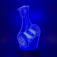 USB 3D LED Night Light Car Llight color changing for Kids Gifts WOW Table Lamp Bedroom Nightlight lampara led night light