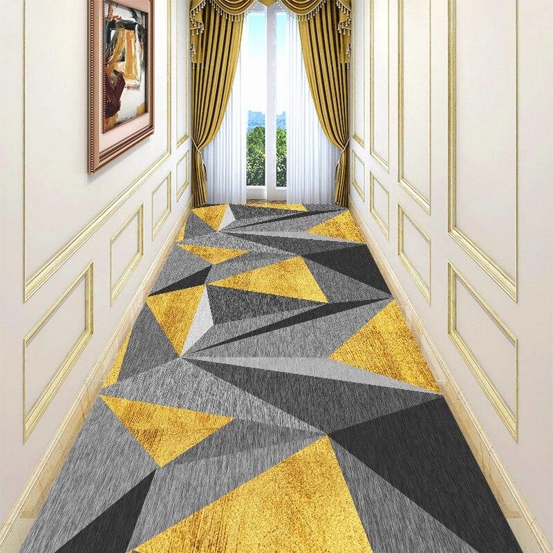 European Geometric Stair Carpet Long Hallway Rugs Hotel Home Wedding Corridor/Aisle Carpets Bedroom Bathroom Mat Runner Rugs