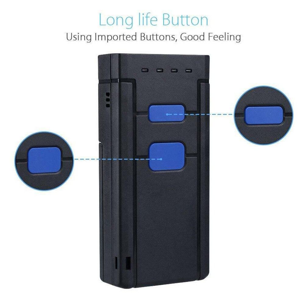 Le lecteur sans fil portatif rapide de code barres de paiement de Bluetooth de poche a mené le Mini ordinateur Portable tenu dans la main