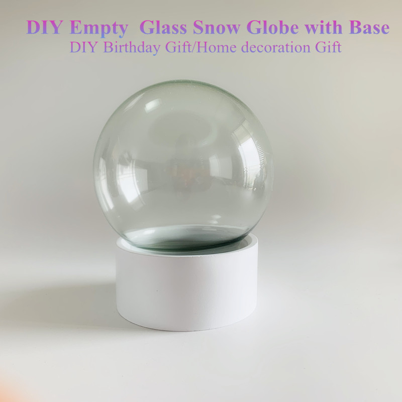 Home decoration Crystal snow globe DIY with base Earth water snow globe wedding bithday gift lovers <font><b>snowball</b></font> crafts snow dome image