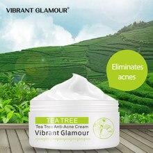 Crème pour le visage, Anti-acné, arbre à thé vibrante, contrôle de l'huile, nourrit, blanchit les cicatrices d'acné, élimine les soins de la peau