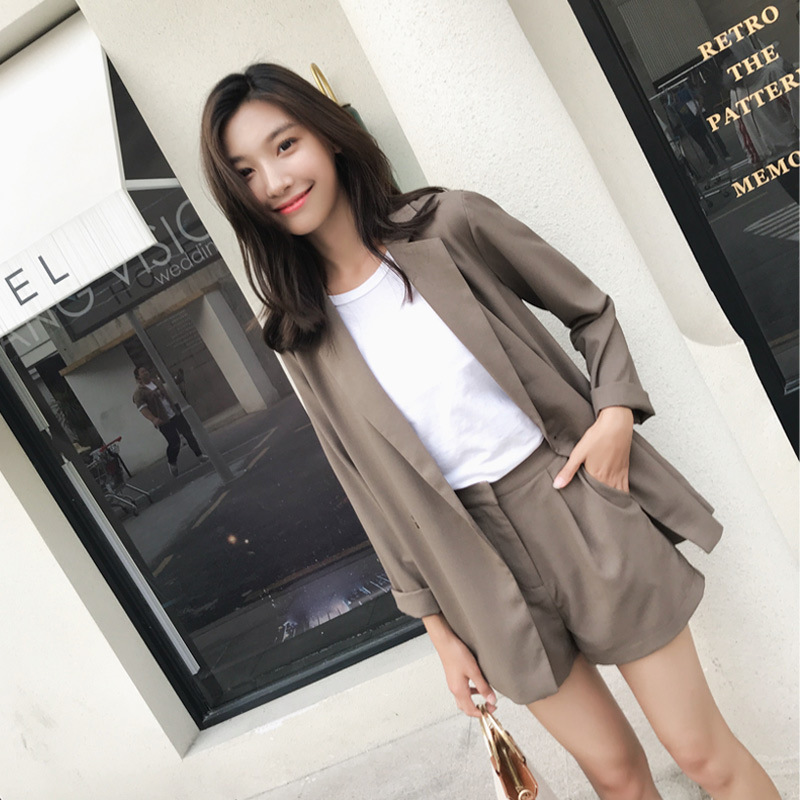 2019 Spring And Autumn Short South Korea Blazer Korean-style Elegant Leisure Suit Online Celebrity CHIC Small Suit Coat Women's