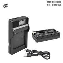 цена на ZNTER 2900mAh NP-F550 NP F550 NPF550 Battery LCD Charger for Sony NP-F330 NP-F530 NP-F570 NP-F730 NP-F750 Hi-8 GV-D200 L50