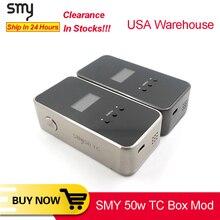 Original SMY 50 TC Box Mod for IJoy RDTA plus Tank electronic cigarette vape mod VS squonk minifit KOOPOR MINI Mod