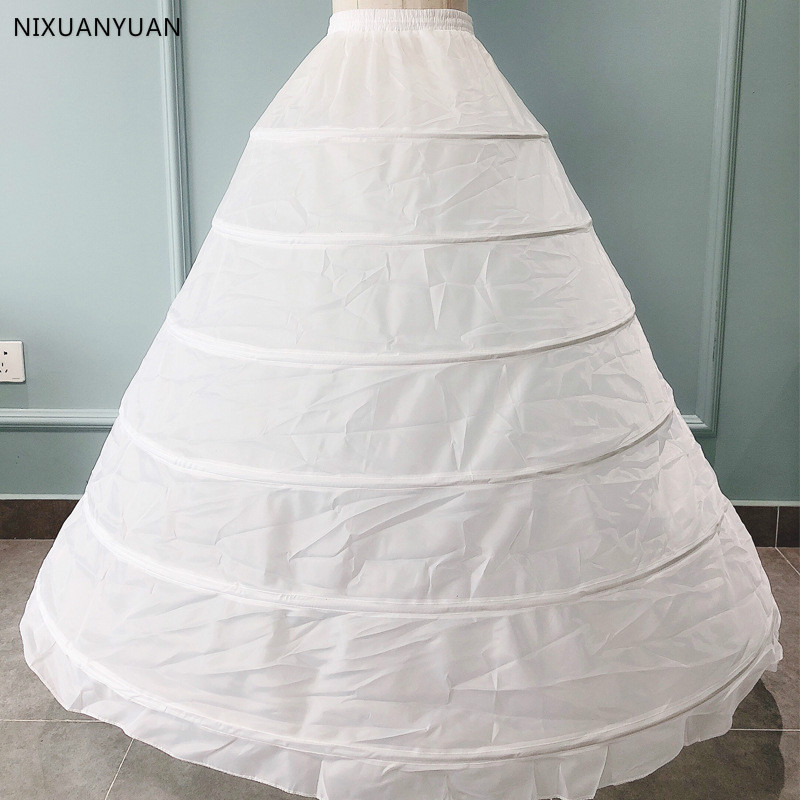 Wholesale 6 Hoops Petticoats Bustle For Ball Gown Wedding Dresses Underskirt Bridal Accessories Bridal Crinolines