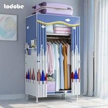 Простой шкаф складной тканевый органайзер для одежды в спальню