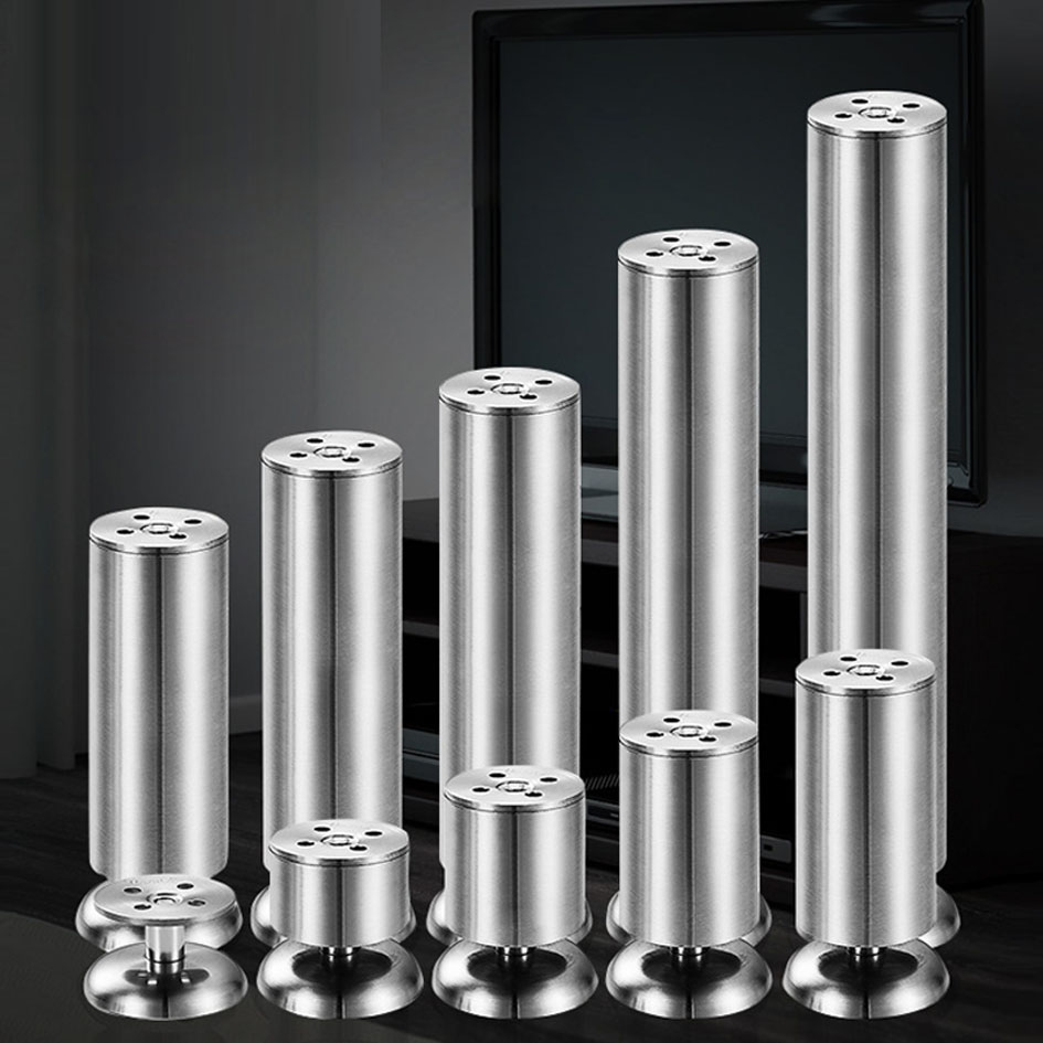 35-300mm Adjustable Height Furniture Legs Made By Stainless Steel Bearing 200KG Support For Table Sofa Bed Kitchen Cabinet