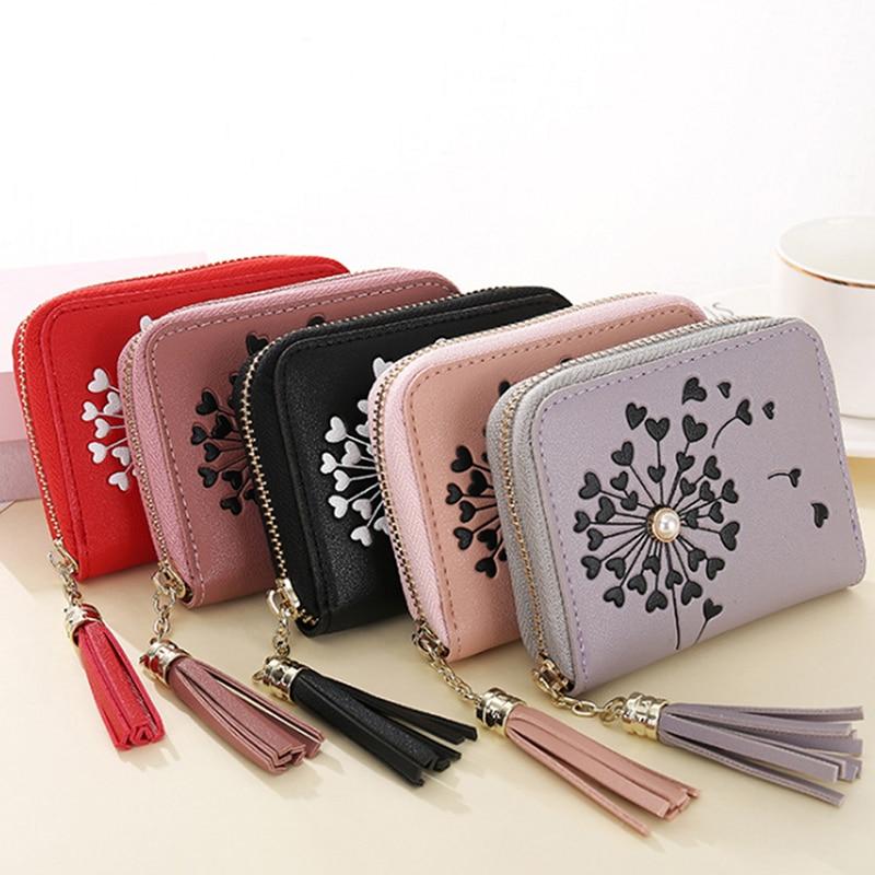 Women Wallets 2020 Small Leather Wallets Women Luxury Brand Zipper Mini Short Wallet Ladies Clutch Card Holder Carteras Mujer