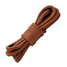 1 Pair Flat Shoelaces High Quality Solid Leather Shoe laces Classic Multicolor Leisure lace Outdoor Unisex Shoelace