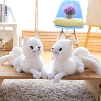 63cm Simulation Fox Doll Nine-Tailed Foxes Doll Plush Toys Pillow Cute White Fox Doll Ragdoll Children's Day Birthday Gift image